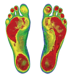 High-tech foot scans